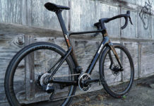 review of parlee rz7 aero road bike with bike shown from rear angle