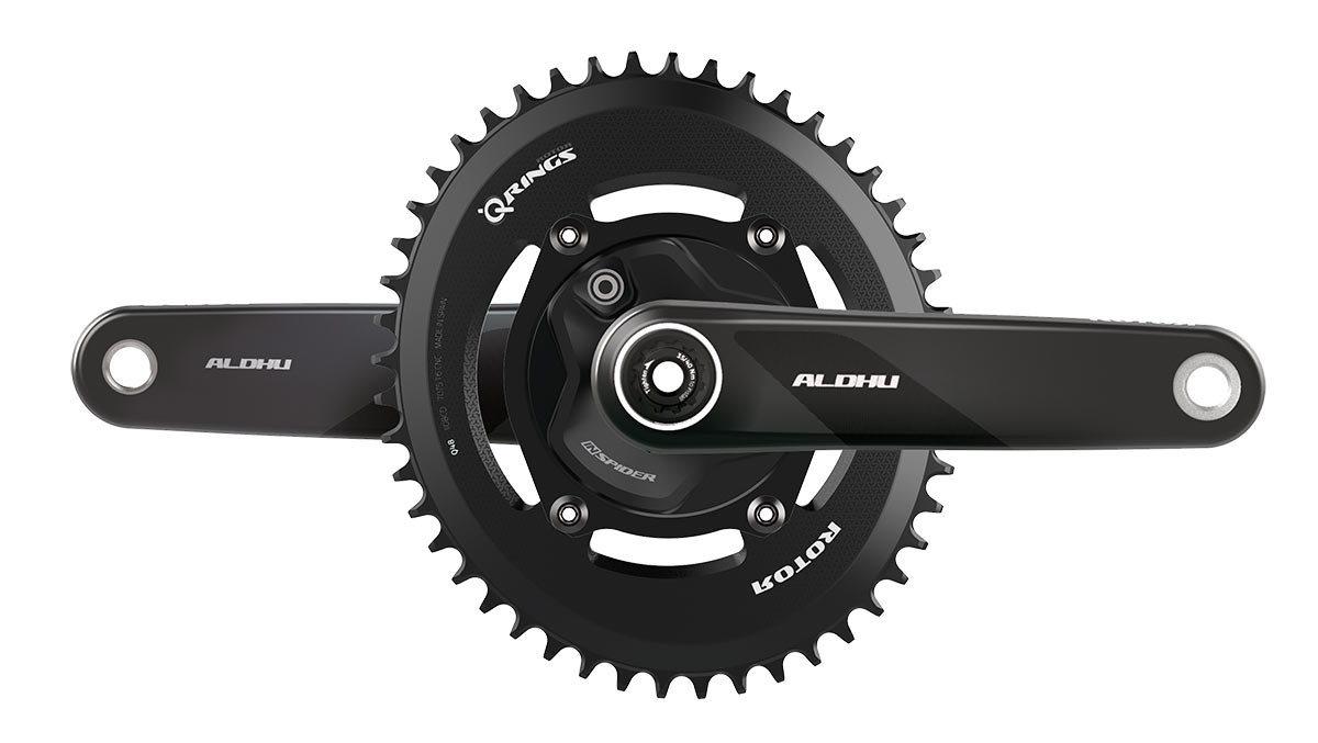 new rotor aldhu carbon fiber crank arms with power meter spider and single chainring