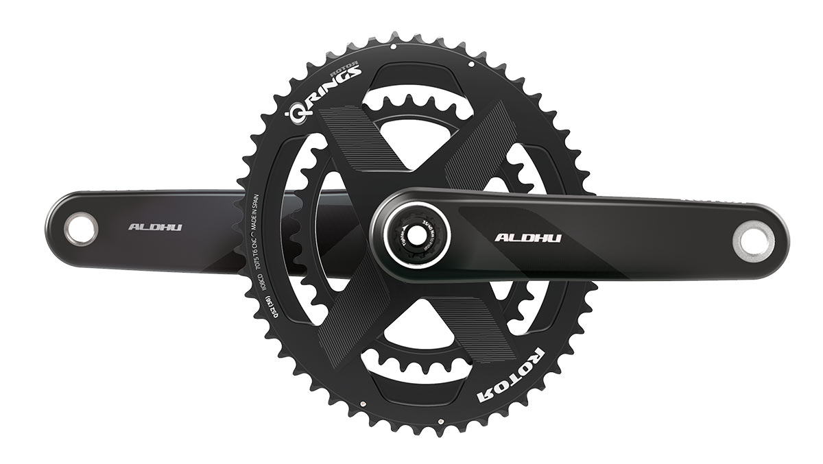 new rotor aldhu carbon fiber crank arms with one-piece double chainring