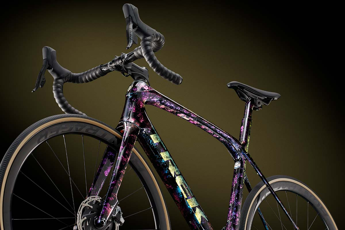 trek domane road bike project one icon psychedelic marble custom bike color customization paint job