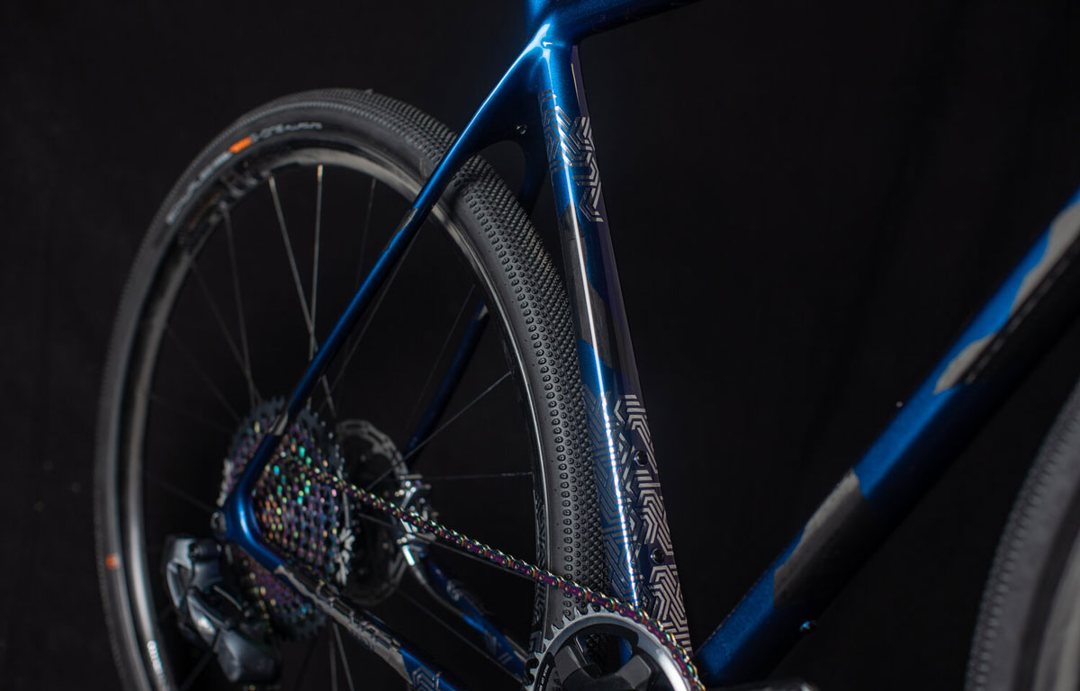 BMP x OPEN finish highlighted by SRAM Eagle Rainbow finish