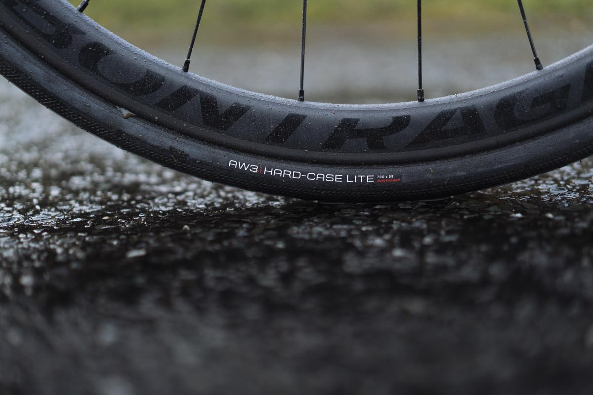 Bontrager AW3 Hard-Case lite tire from side
