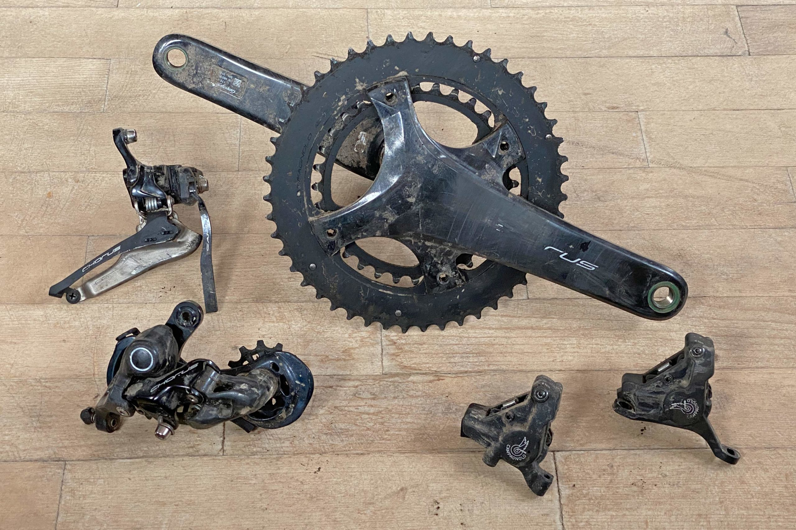 Campagnolo Chorus 2x12 all road bike groupset review, 1-year-old wear
