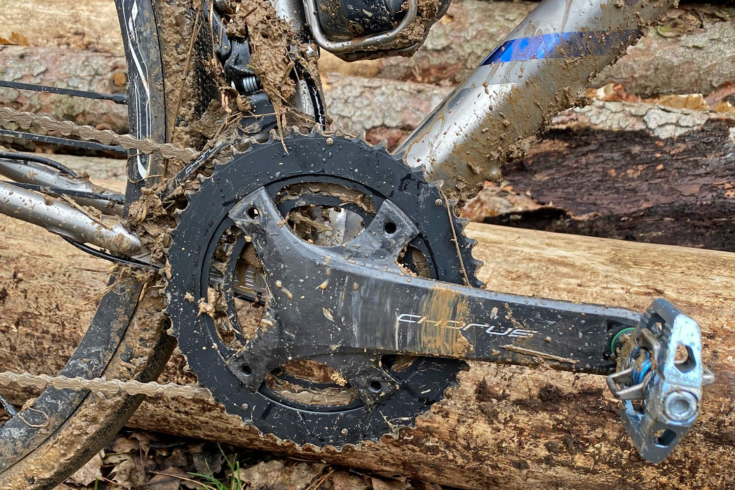 Campagnolo Chorus 2x12 all road bike groupset review, muddy cranks & front derailleur