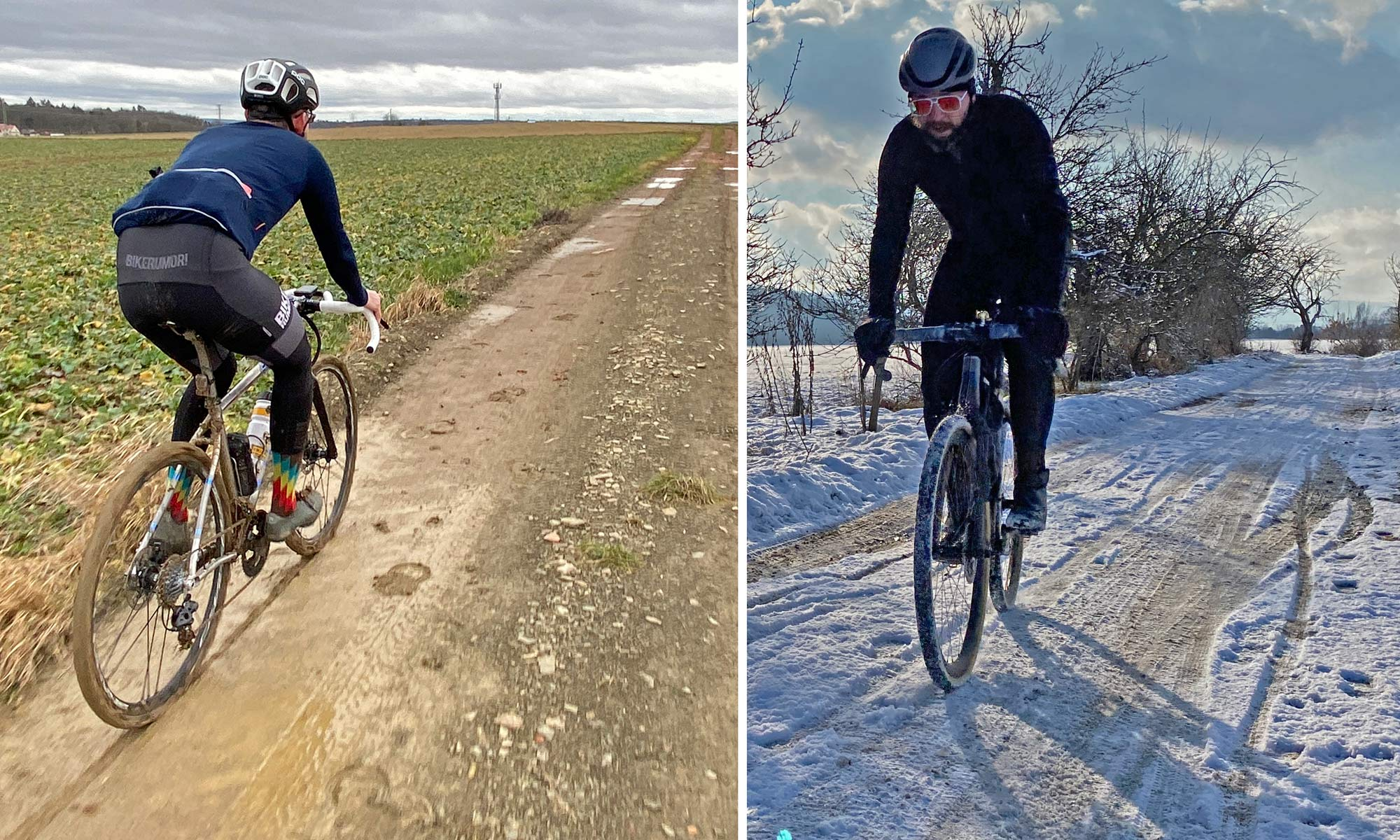 Campagnolo Chorus 2x12 all road bike groupset review, riding in mud & snow