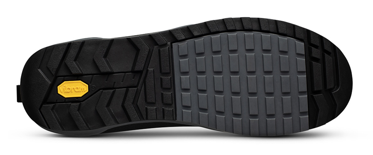 FIZIK EBIKE SHOES FOR FLAT PEDAL VIBRAM SOLE TREAD PATTERN