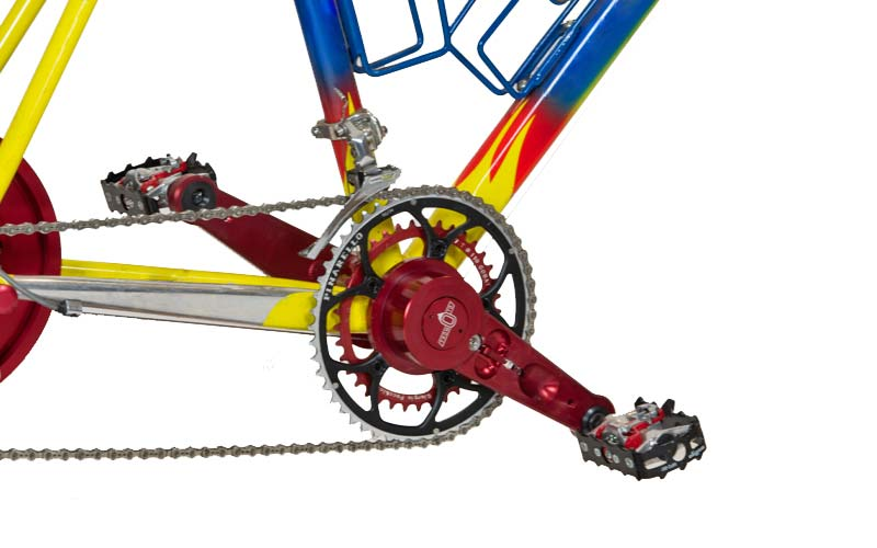 MagneticDays Forza Pura training cranksest, separate spinning crank arms refine pedal stroke and pedal smoothness,on trainer