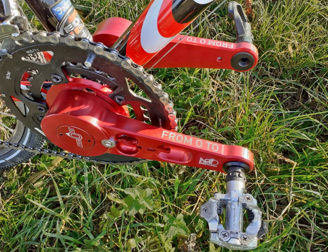 MagneticDays Forza Pura training cranksest, separate spinning crank arms refine pedal stroke and pedal smoothness, out of sync