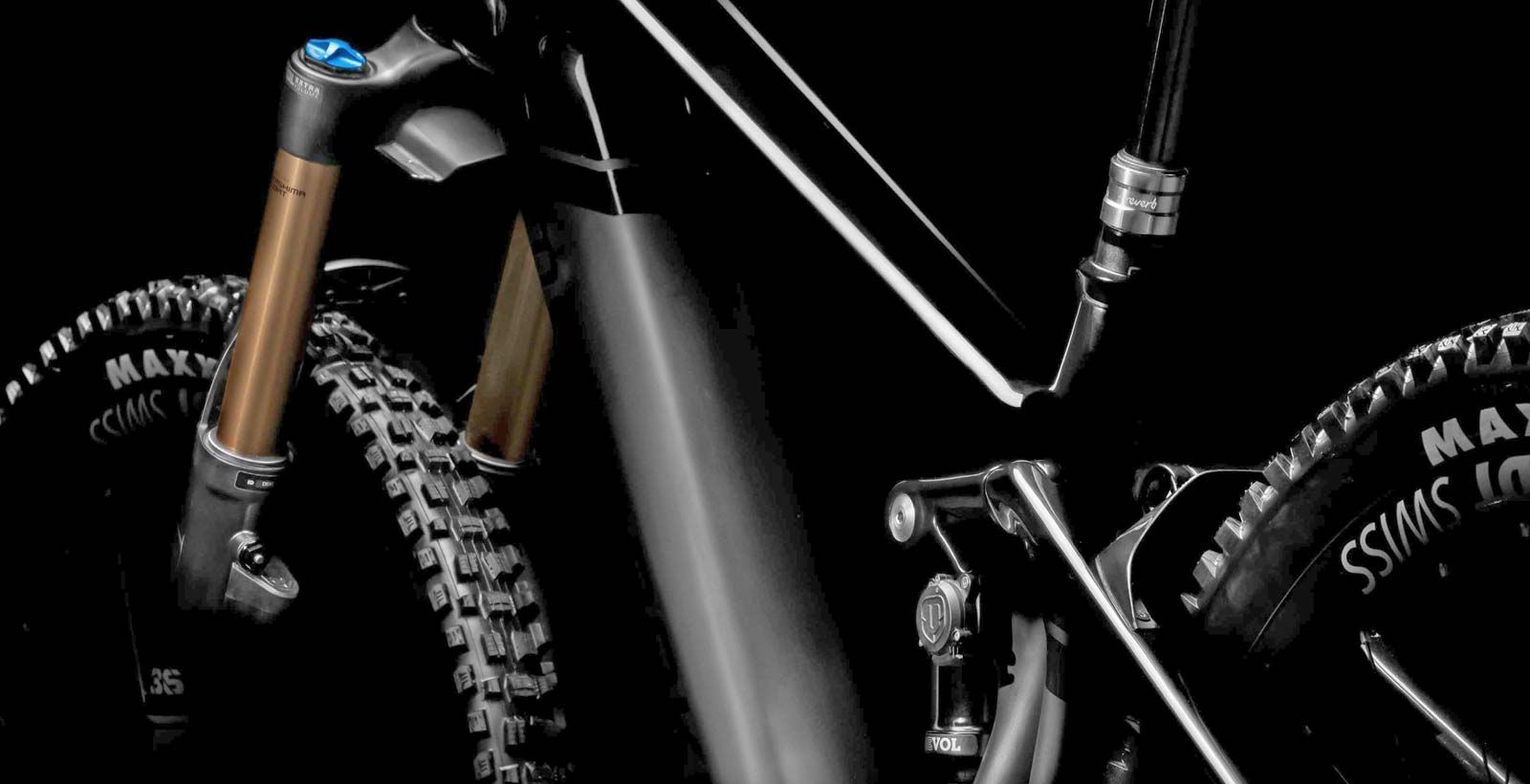 Mondraker MIND integrated telemetry tracking system suspension setup and analysis,rear angled teaser