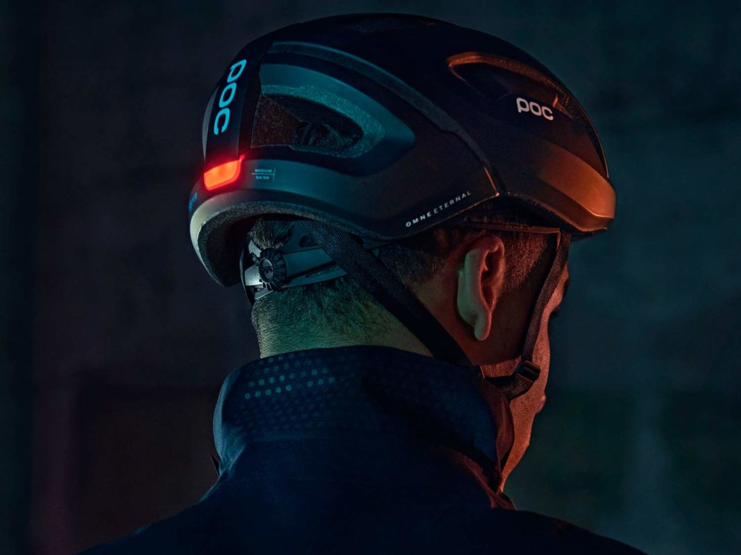 POC Omne Eternal solar-powered helmet with integrated lighting, night mode