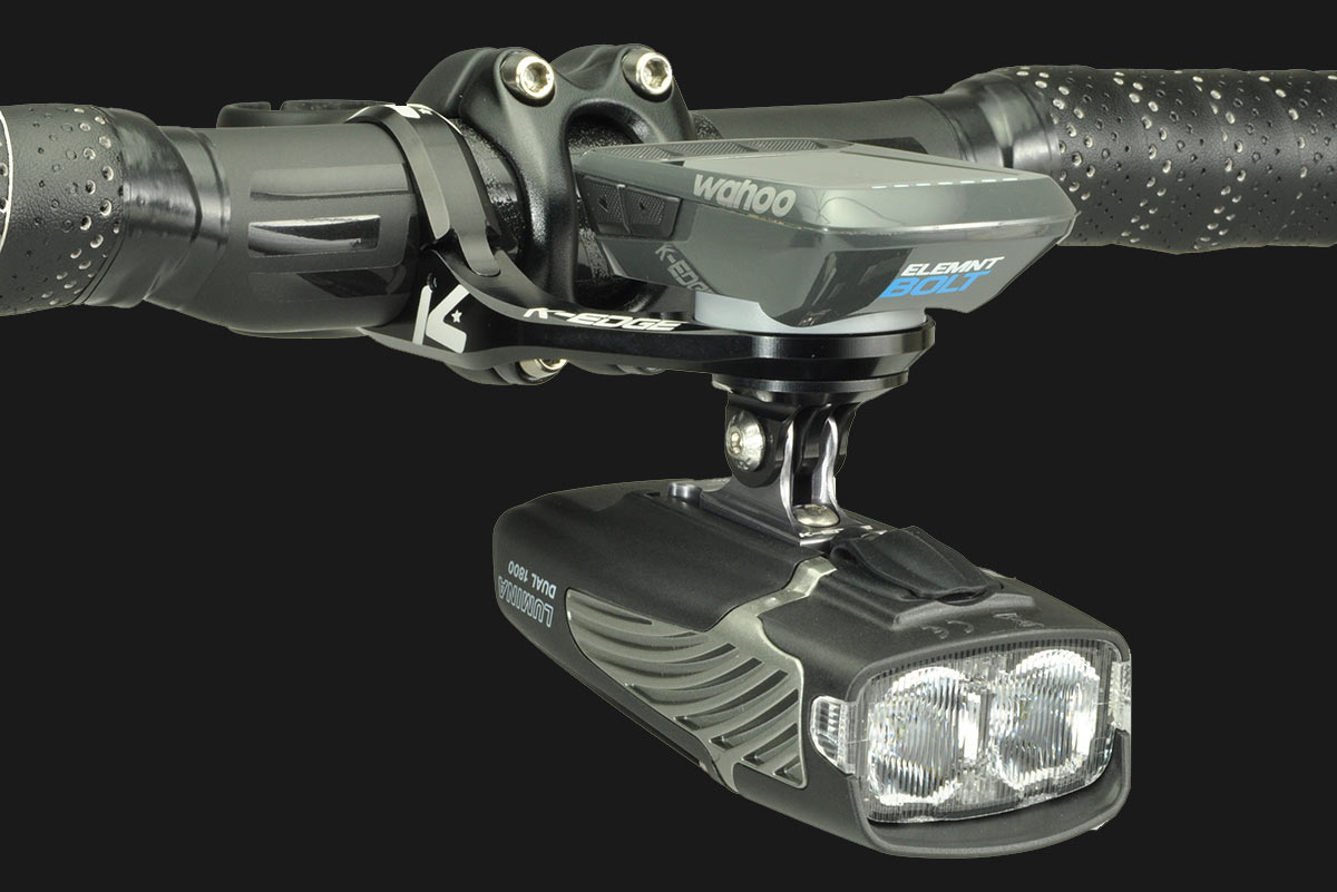new K-Edge Max combo out front mount for cycling computers and headlights