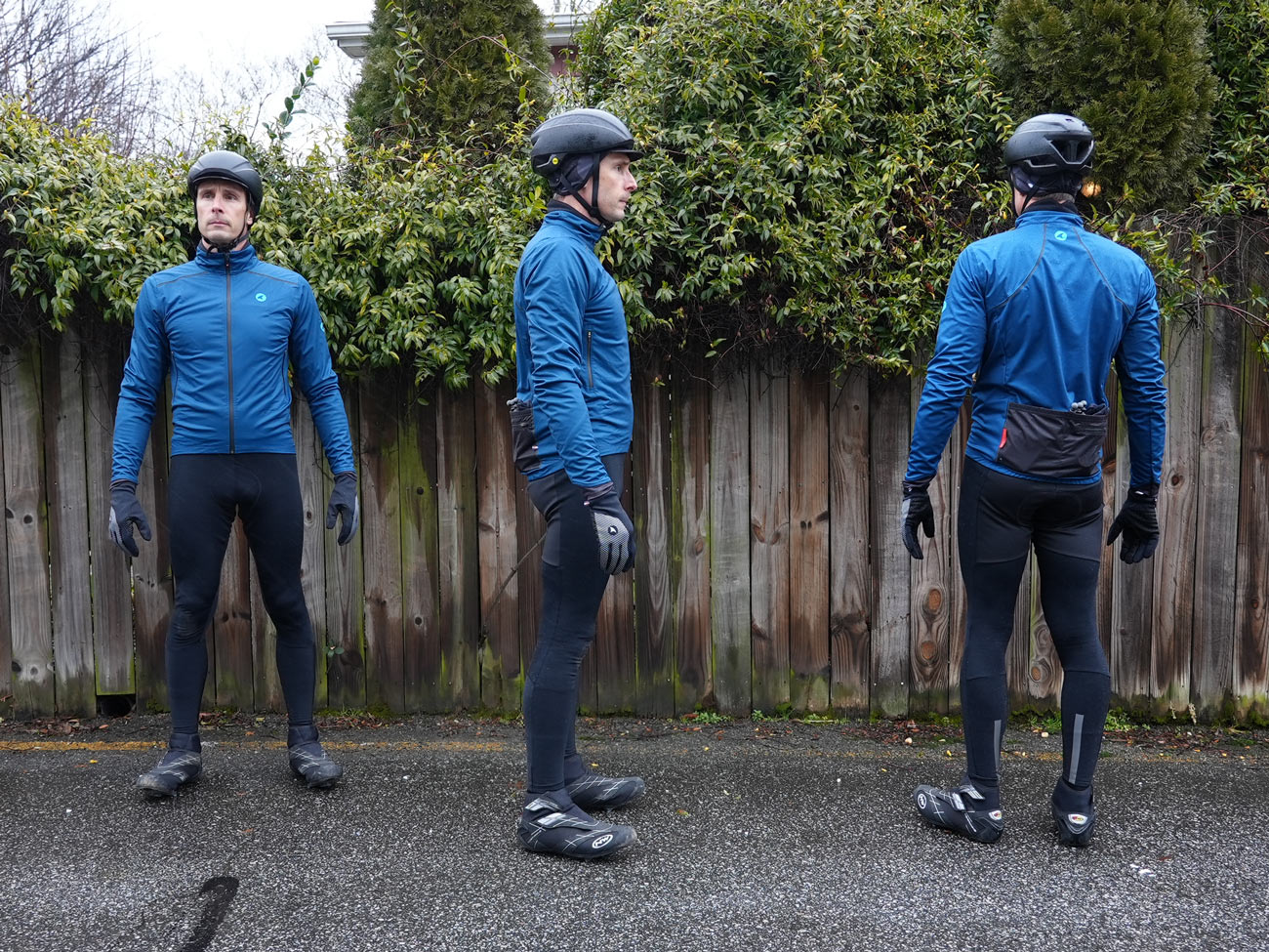 pactimo winter cycling kit photos of thermal bibs and jacket with long sleeve jersey