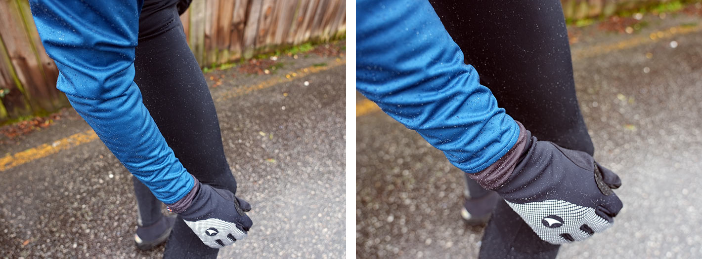 pactimo winter riding kit and alpine waterproof road bike gloves