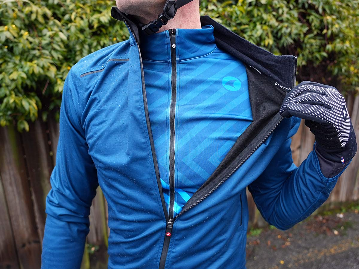 pactimo waterproof winter cycling jacket and jersey