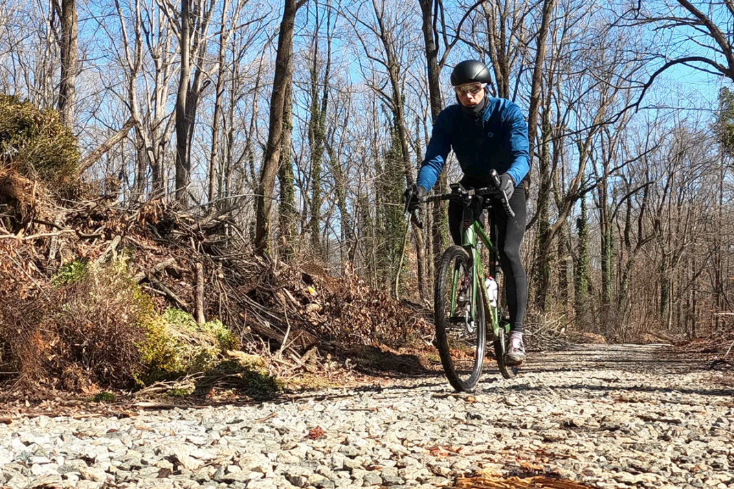 riding gravel bikes testing pactimo winter cycling kit