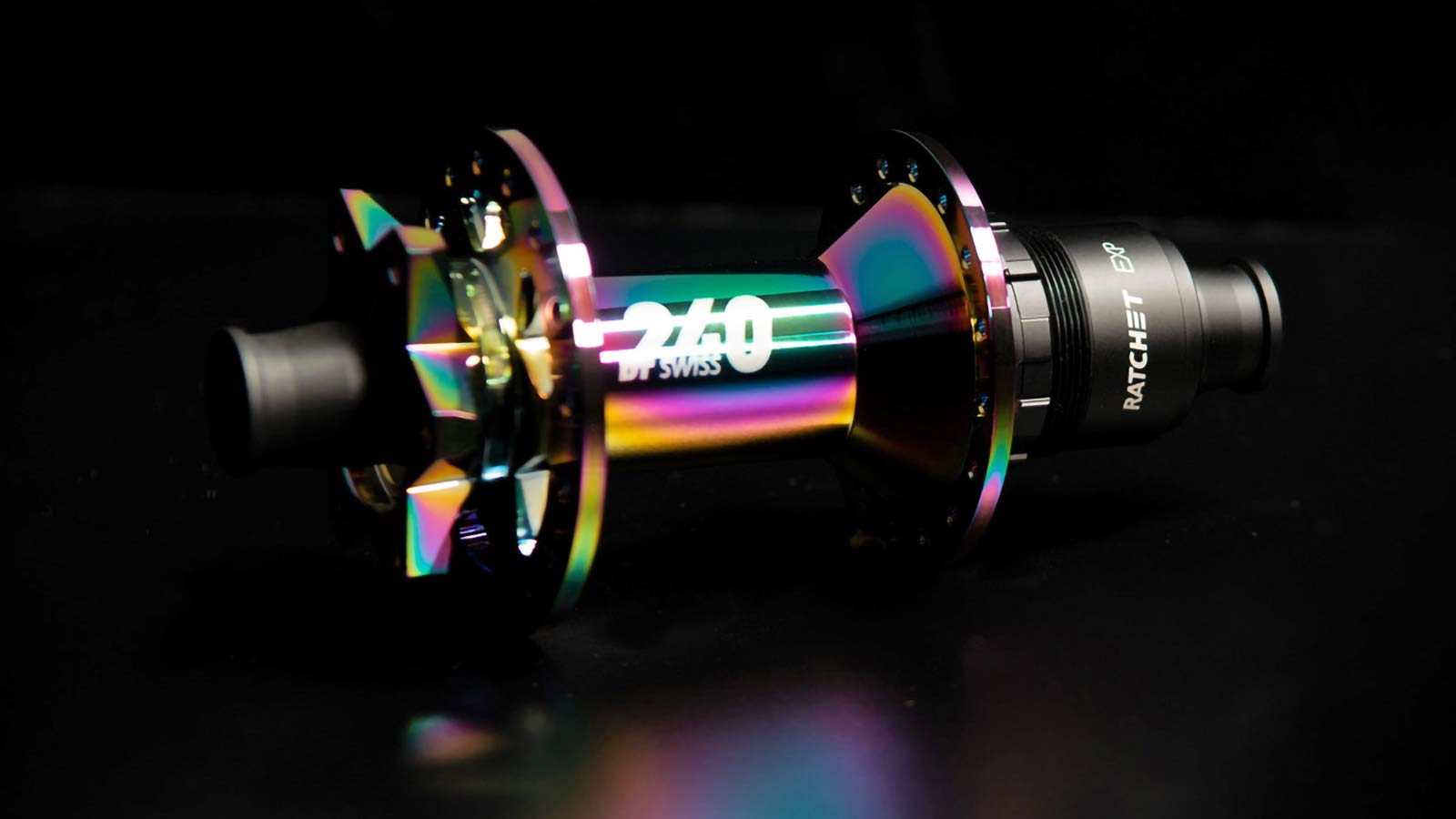 DT Swiss 240 Oil Slick Limited edition mountain bike hubs, 240 EXP Classic MTB rear hub