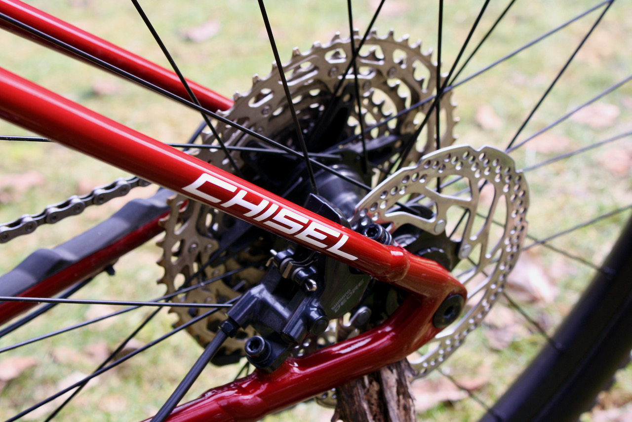 Specialized Chisel XC Bike Review Shimano Deore Brakeset Rotor and dropout