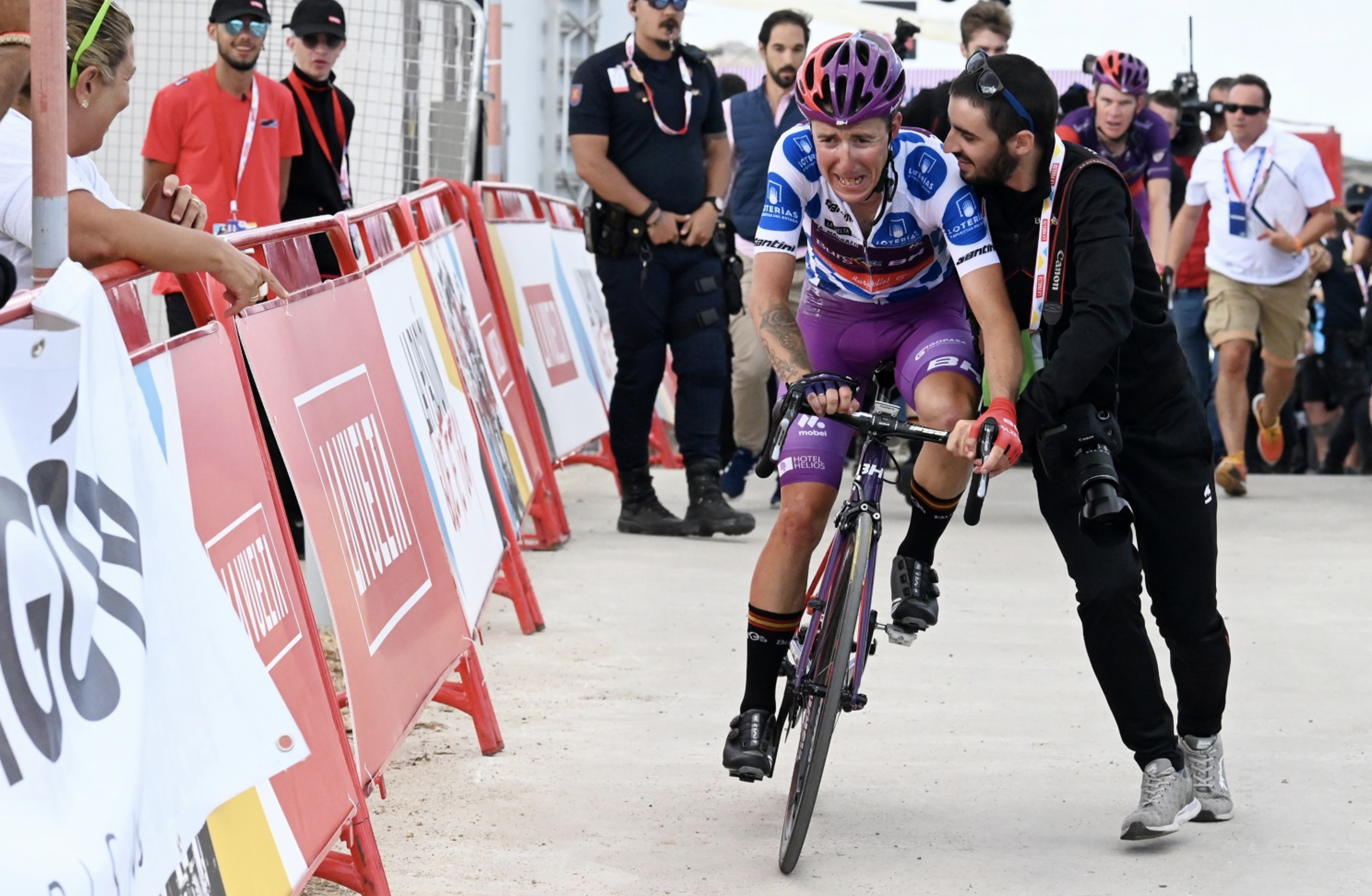 Madrazo after taking the win on La Vuelta stage 5 -