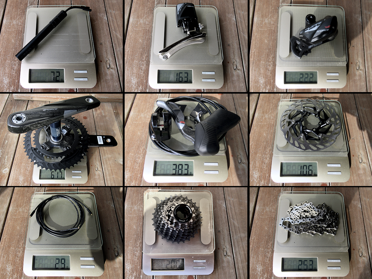 FSA WE Groupset real weights